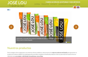 Web de Aceitunas Jos Lou, diseo de Quelinka
