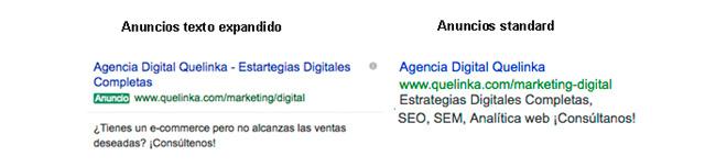 Últimos cambios en los anuncios de texto expandido de Google AdWords