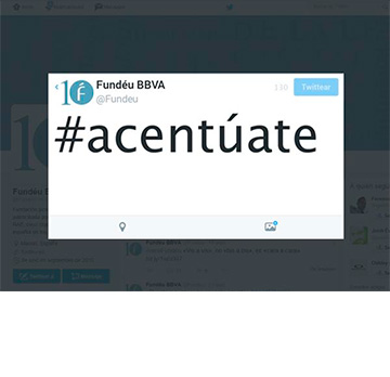 #Acentúate: los tuiteros dicen sí a la tilde en los hashtags