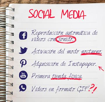 5 Novedades en Social Media