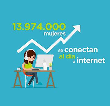 El acceso a internet en España, liderado por las mujeres