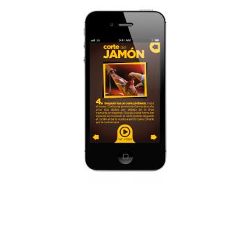 """Una app para Navidul que """"convierte"""" un smartphone en un cuchillo jamonero"""