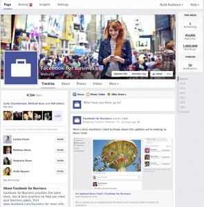 La nueva apariencia de las páginas de empresa en Facebook