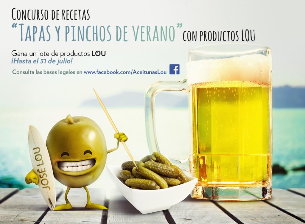 La imagen del concurso de recetas de pinchos y tapas de Aceitunas LOU ha sido diseñada por Quelinka